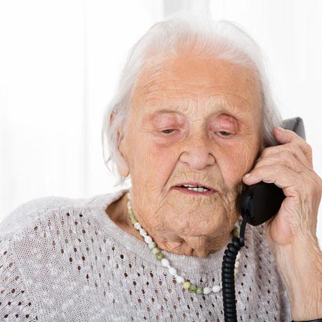 Leichte Telefon-Bedienung mit Wählhilfe