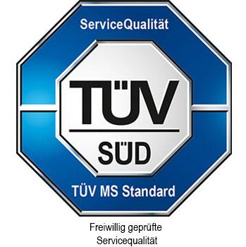 TÜV Siegel freiwillig geprüfte Servicequalität